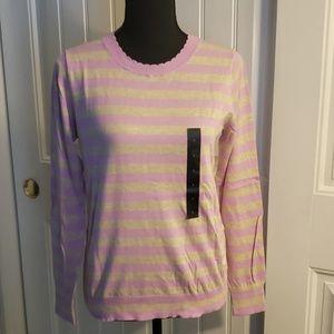 💗 NWT Banana Republic Pink/Tan Striped Sweater